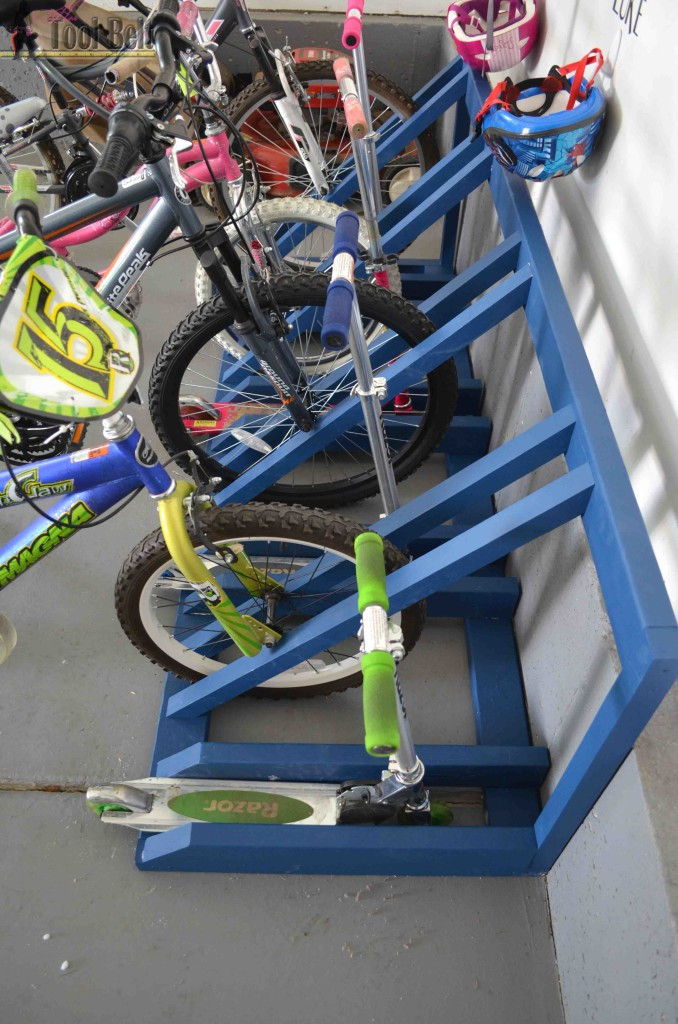 Best ideas about DIY Bike Racks . Save or Pin DIY Bike and Scooter Rack Her Tool Belt Now.