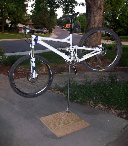 Best ideas about DIY Bike Stand . Save or Pin DIY How to Build Your Own Bike Work Stand Singletracks Now.