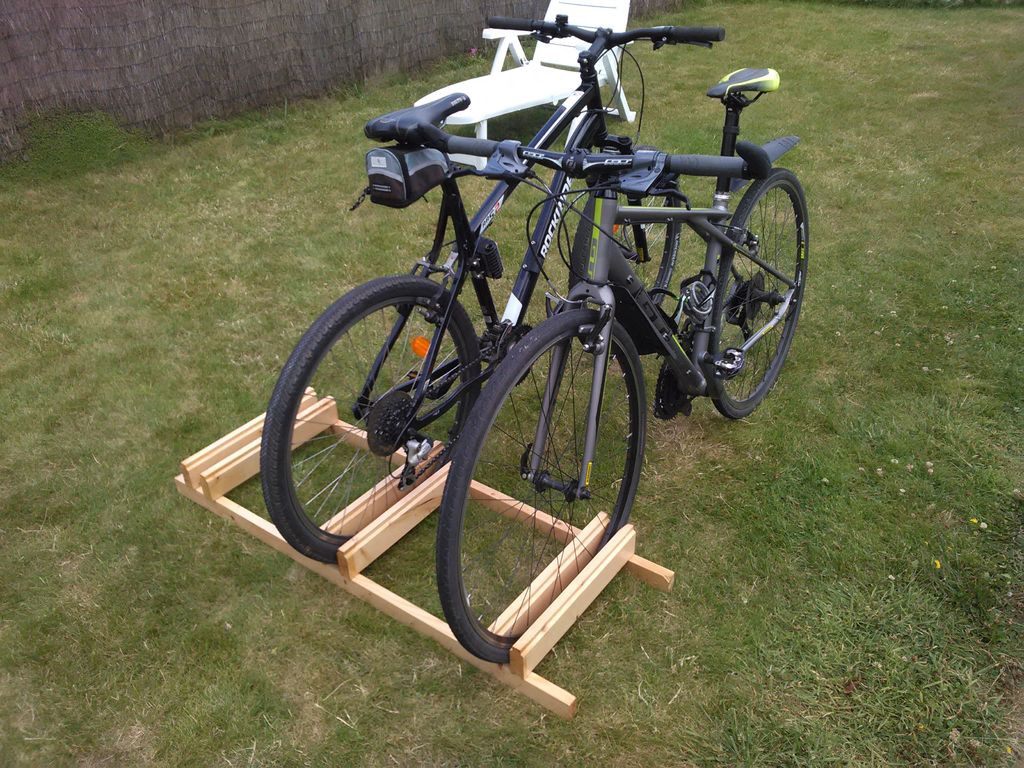 Best ideas about DIY Bike Stand . Save or Pin DIY Bike Stand 7 Steps with Now.