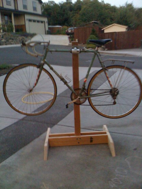 Best ideas about DIY Bike Stand Wood . Save or Pin DIY Bike Repair Stand Phase II Mission ac plished Now.