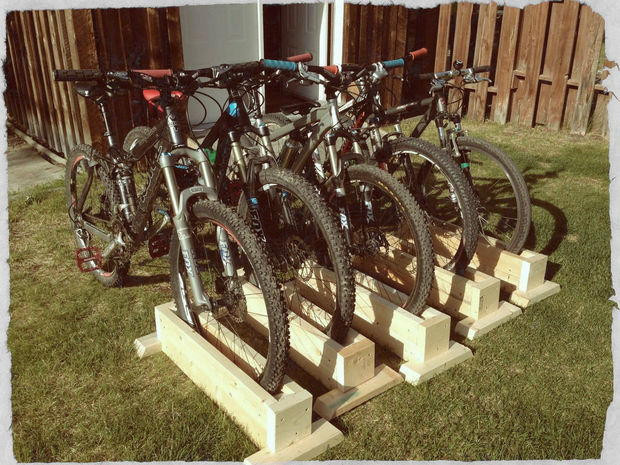 Best ideas about DIY Bike Stand Wood . Save or Pin DIY Bike Rack Now.