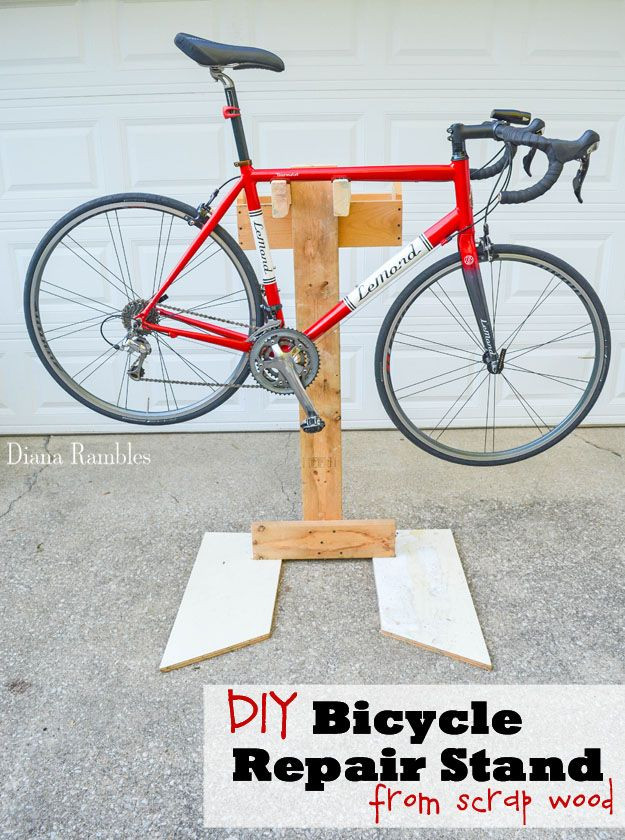 Best ideas about DIY Bike Stand Wood . Save or Pin DIY Bicycle Repair Stand Bike Tutorial Learn how to make Now.