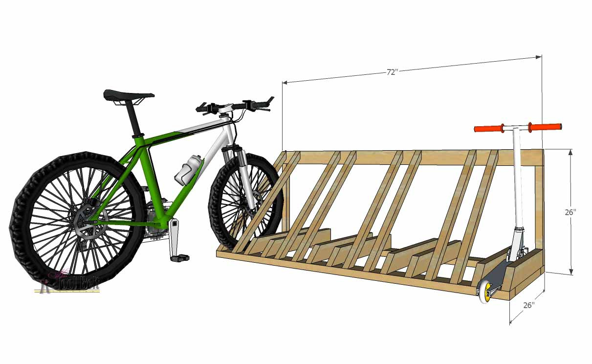Best ideas about DIY Bike Stand Wood . Save or Pin DIY Bike and Scooter Rack Her Tool Belt Now.