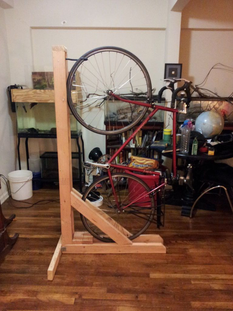 Best ideas about DIY Bike Stand Wood . Save or Pin diy vertical bike rack 1UPlgICBE My Yard Now.
