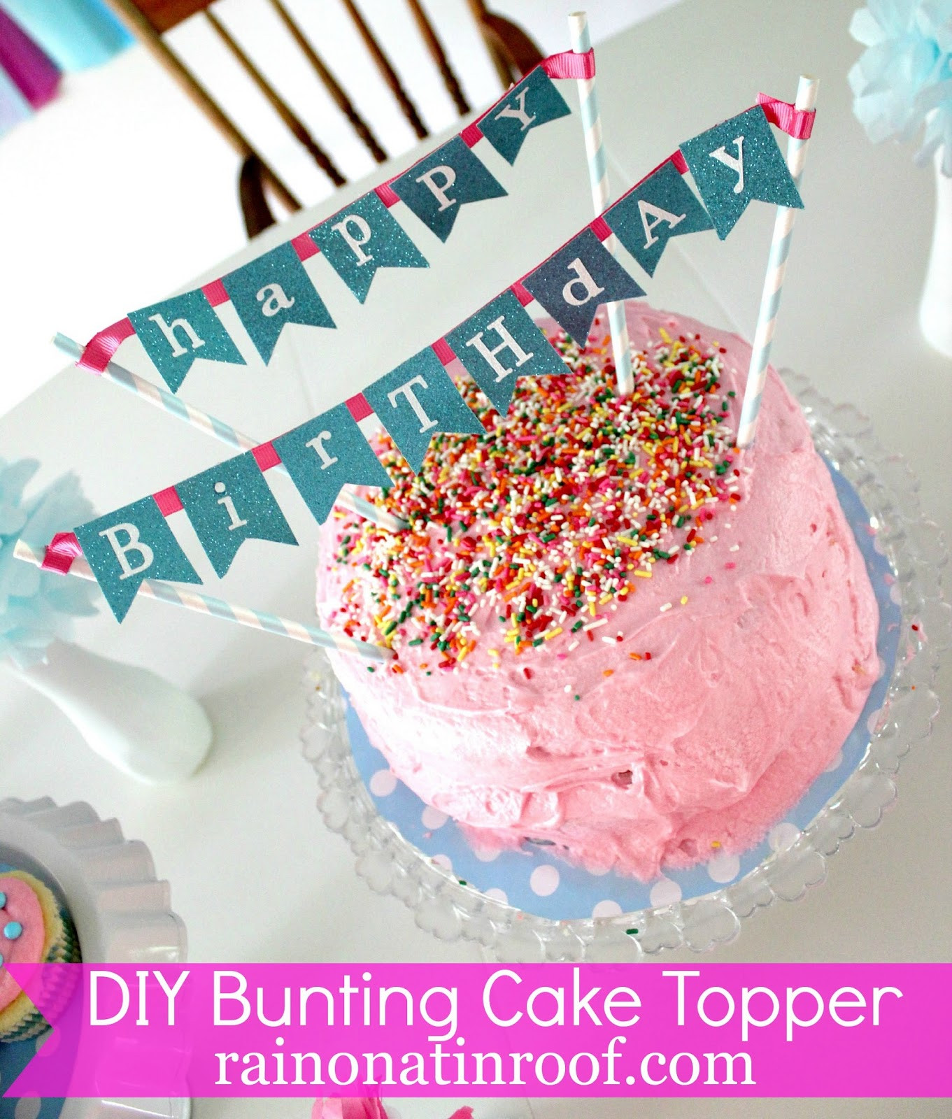 Best ideas about DIY Birthday Cakes . Save or Pin Easy DIY Cake Topper in Under an Hour Now.