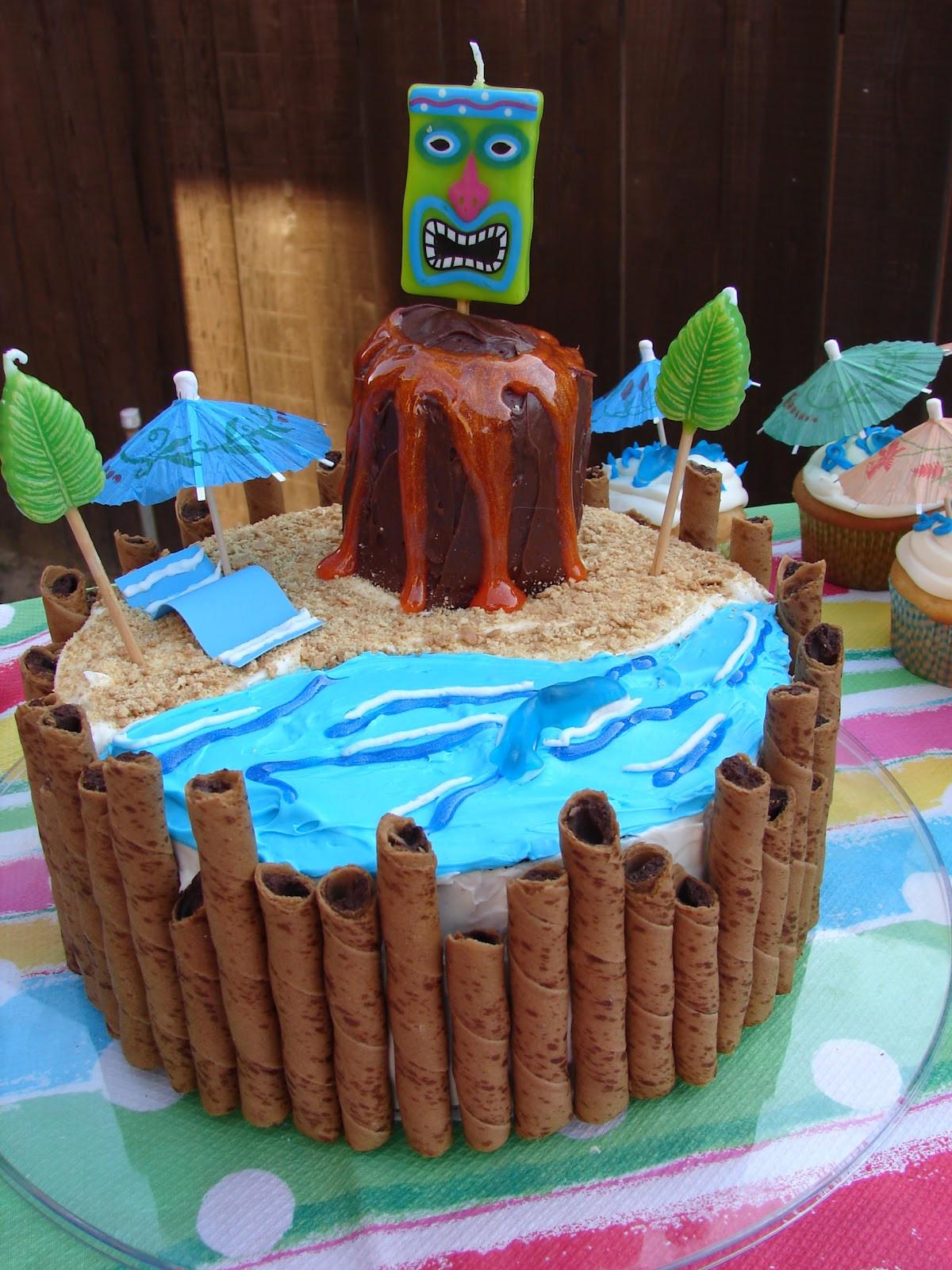 Best ideas about DIY Birthday Cakes . Save or Pin Glitter Glue GLAM DIY Luau Birthday Cake Now.