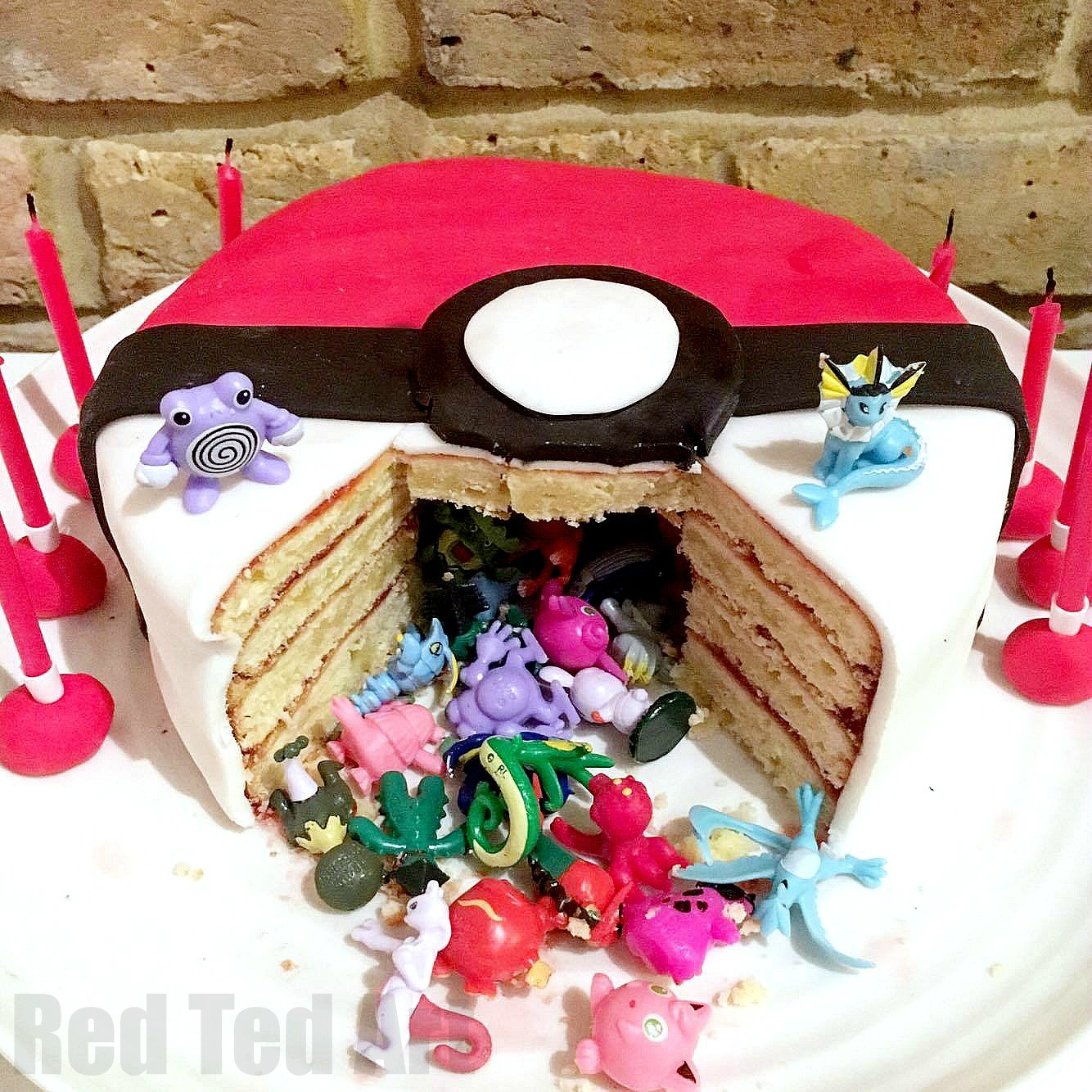 Best ideas about DIY Birthday Cakes . Save or Pin DIY Pokemon Cake Surprise Pinata Pokeball Cake Red Ted Now.