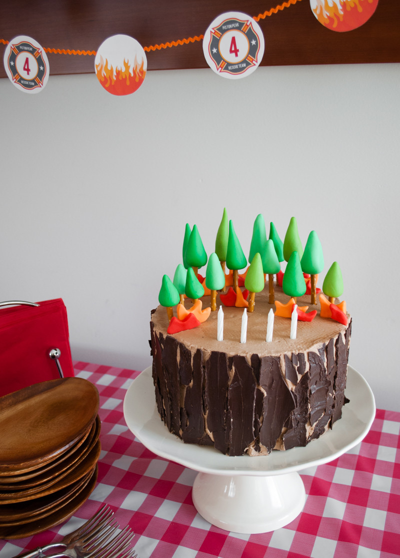 Best ideas about DIY Birthday Cakes . Save or Pin Easy DIY Planes Fire & Rescue Birthday Cake with Forest Now.