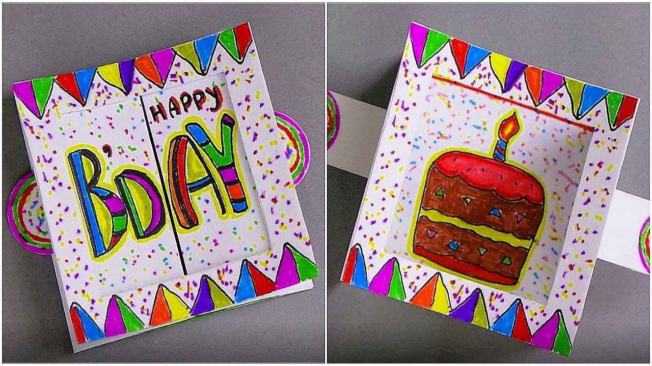Best ideas about DIY Birthday Card Ideas . Save or Pin DIY BIRTHDAY CARD HANDMADE GREETING CARD MAKING IDEAS Now.