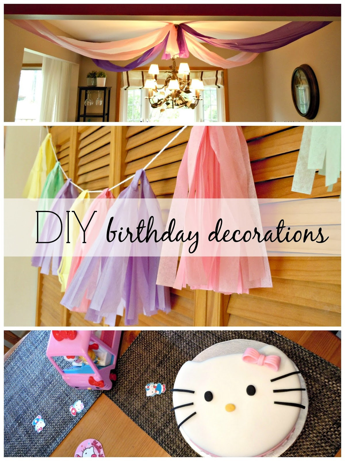 Best ideas about Diy Birthday Decor . Save or Pin Birthday Party DIY decorations Life a Little Brighter Now.