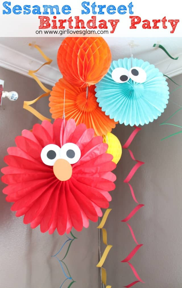 Best ideas about Diy Birthday Decor . Save or Pin Sesame Street Elmo Birthday Party Girl Loves Glam Now.