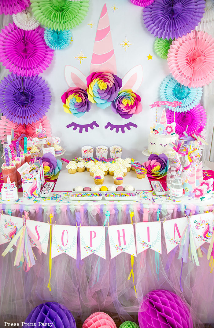 Best ideas about Diy Birthday Decor . Save or Pin Truly Magical Unicorn Birthday Party Decorations DIY Now.