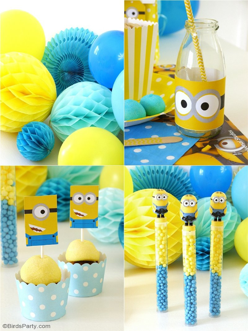 Best ideas about DIY Birthday Decorations . Save or Pin Minion Inspired Birthday Party Ideas & FREE Printables Now.
