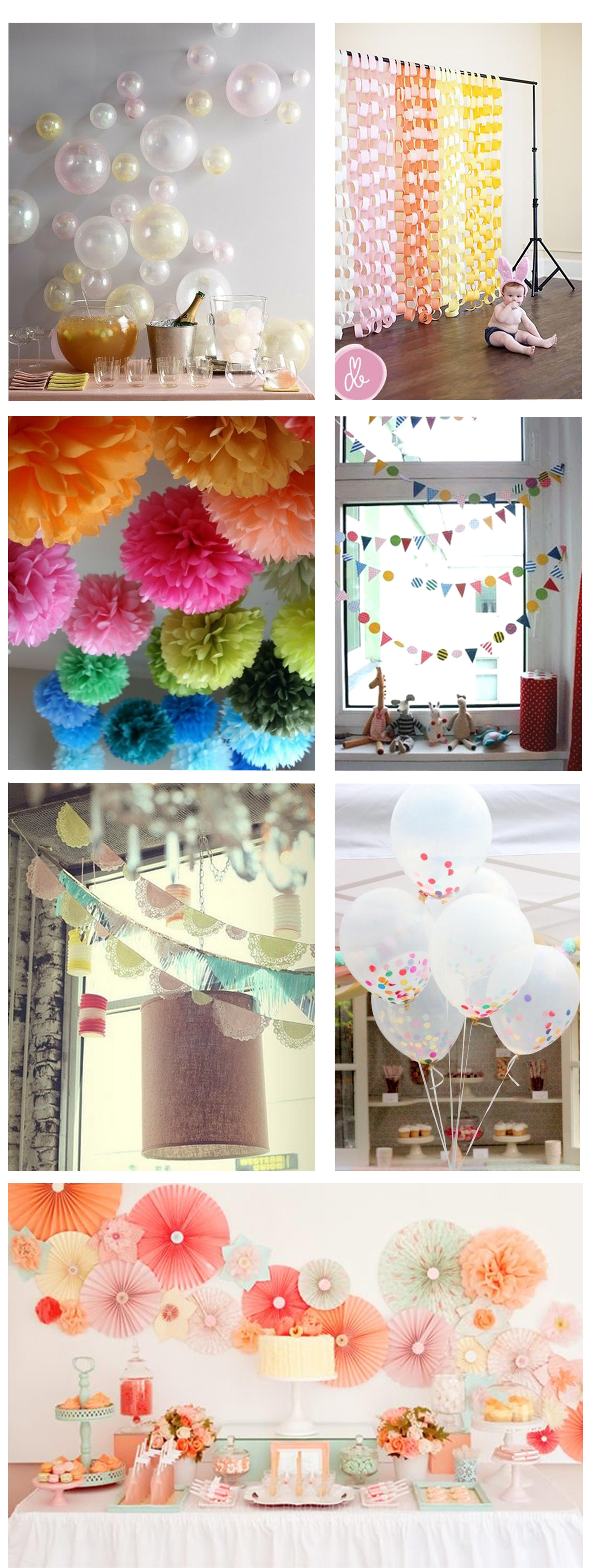 Best ideas about DIY Birthday Decorations . Save or Pin Ideas for home made party decorations Now.