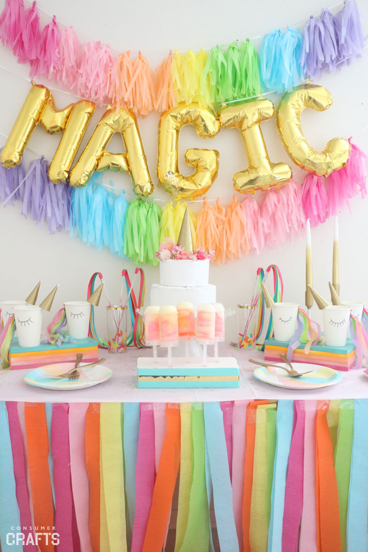 Best ideas about Diy Birthday Decorations . Save or Pin DIY Unicorn Party Cups Step by Step Consumer Crafts Now.