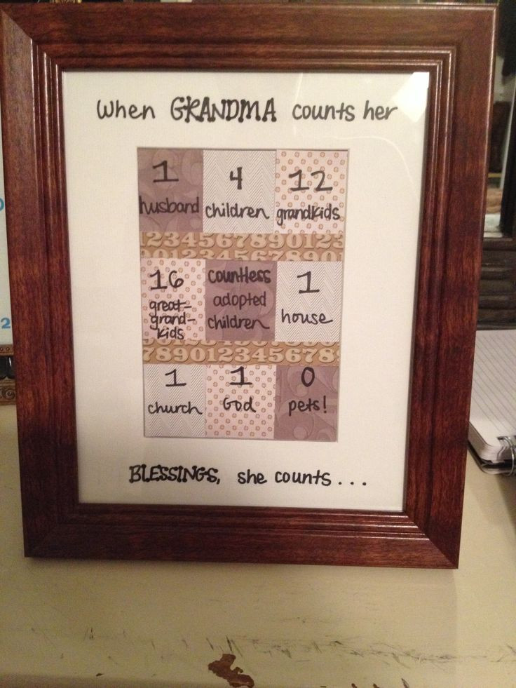 Best ideas about DIY Birthday Gifts For Grandma . Save or Pin Craft for Grandma s birthday Create Now.