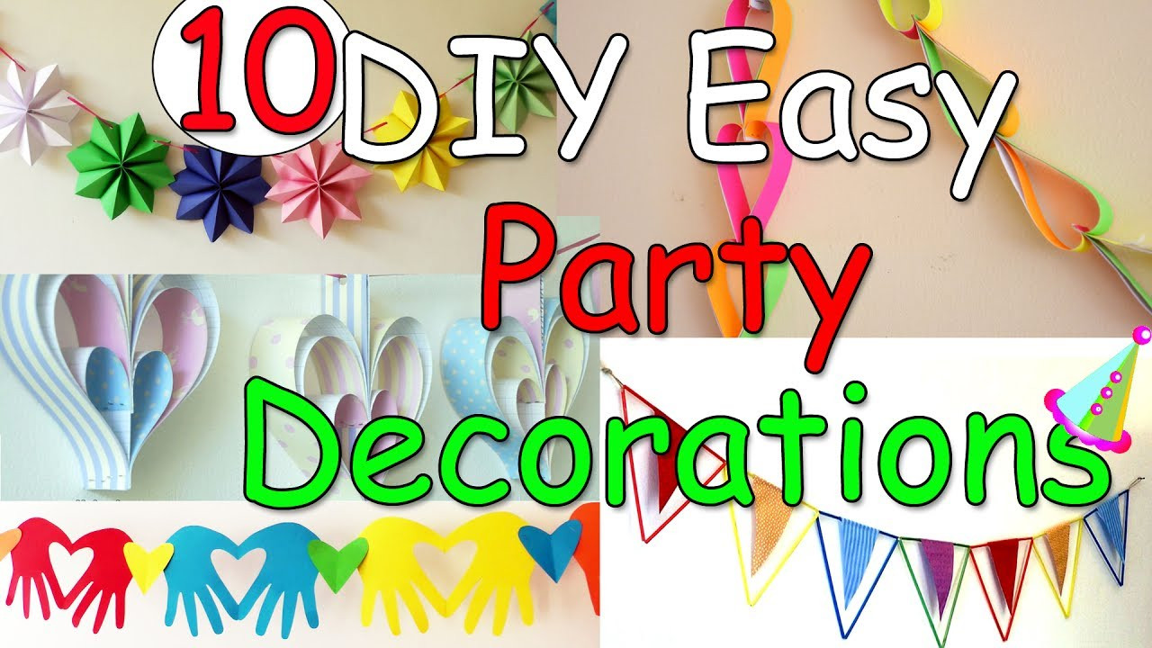Best ideas about Diy Birthday Party Decorations . Save or Pin 10 DIY Easy Party Decorations Ideas Ana Now.
