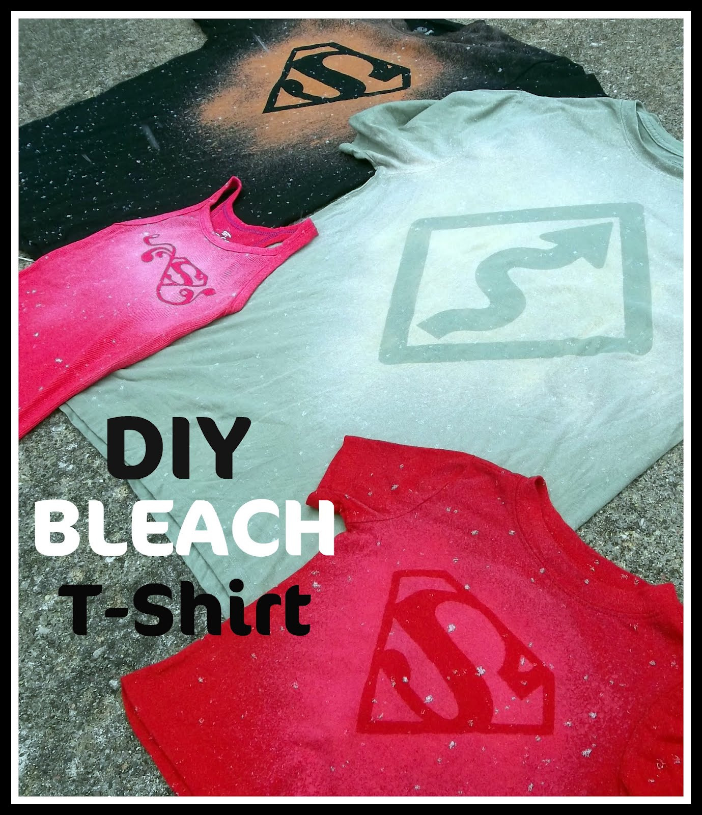 Best ideas about DIY Bleach Shirt . Save or Pin DIY Bleach T Shirt Tutorial Now.
