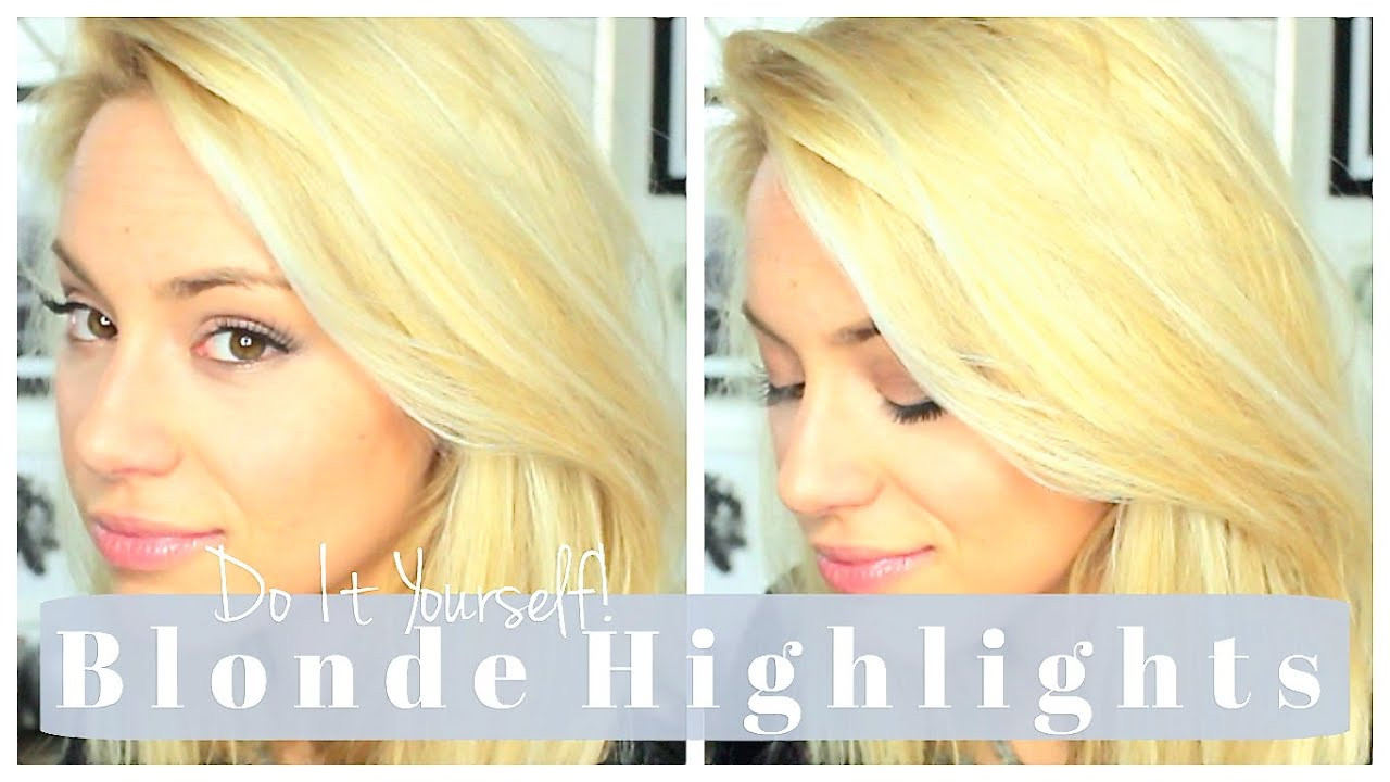Best ideas about DIY Blonde Highlights . Save or Pin DIY BLONDE HIGHLIGHTS & Ansatz nachfärben EASY AT HOME Now.