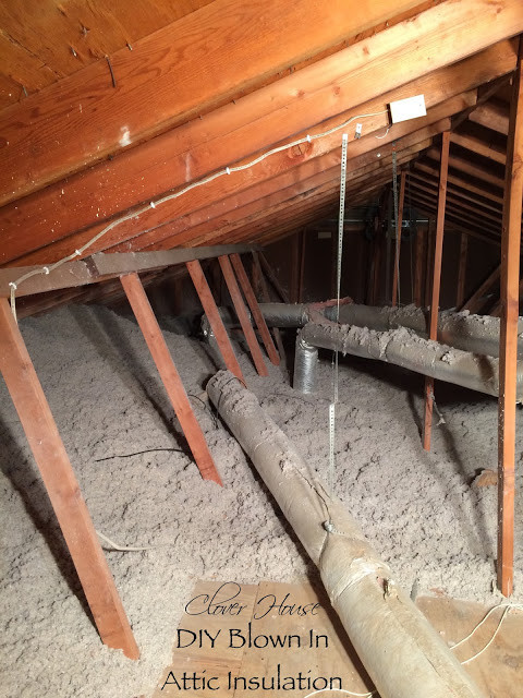 Best ideas about DIY Blown In Insulation Walls . Save or Pin Clover House DIY Blown in Insulation Using GreenFiber Now.