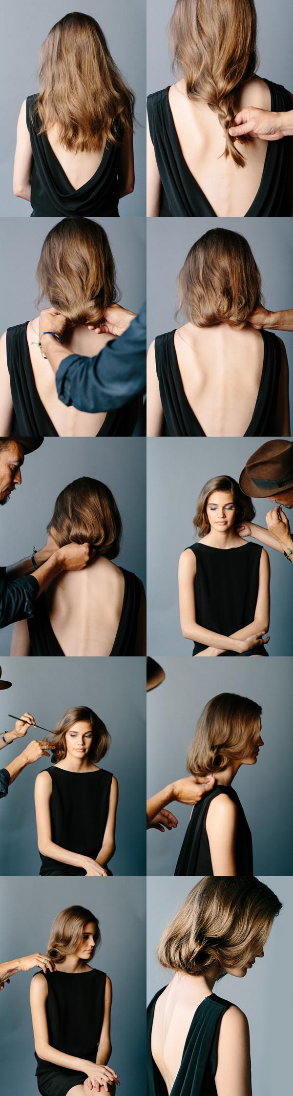 Best ideas about DIY Bob Haircut . Save or Pin DIY Faux Bob Wedding Hairstyle DIY Weddings Now.