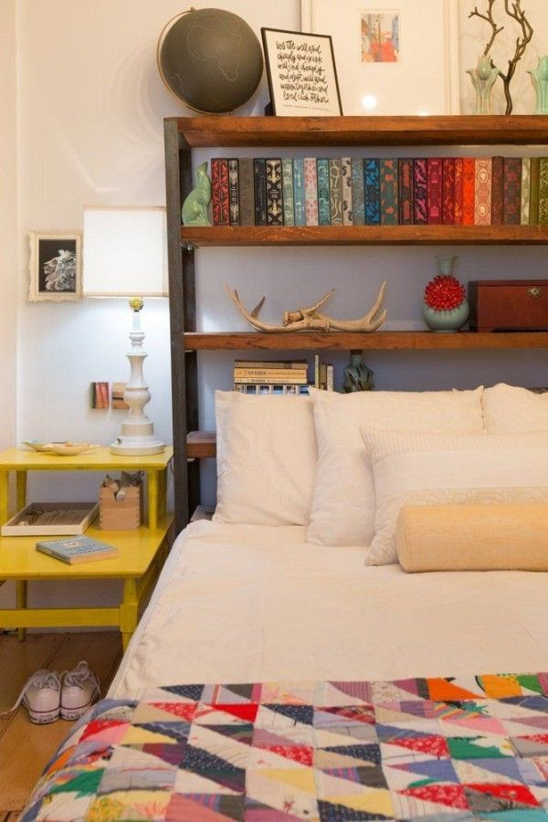 Best ideas about DIY Bookcase Headboard Plans . Save or Pin 17 Bookshelves That Double as Headboards Now.