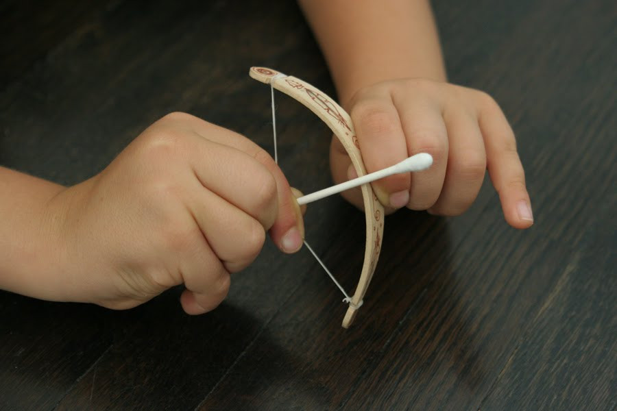 Best ideas about DIY Bow And Arrow . Save or Pin The Brooding Hen Tiny bow & arrow Now.