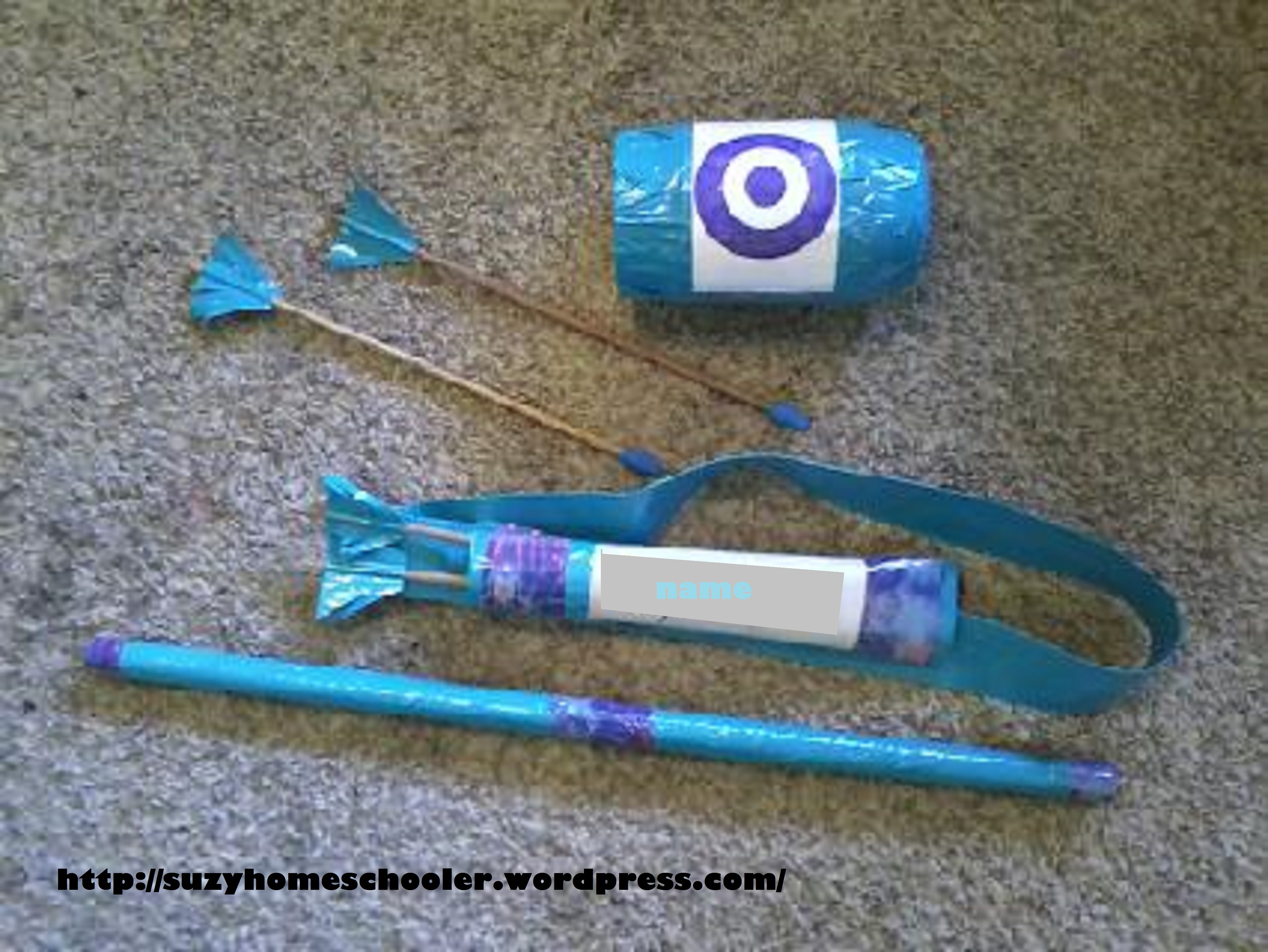 Best ideas about DIY Bow And Arrow . Save or Pin Easy DIY Bow and Arrow Set – Suzy Homeschooler Now.