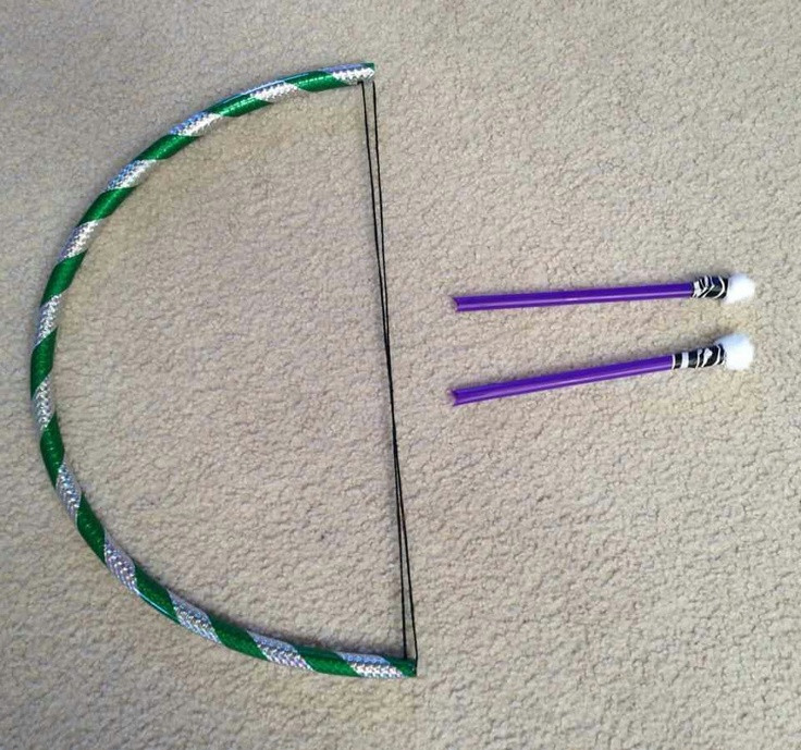 Best ideas about DIY Bow And Arrow . Save or Pin DIY Bow and Arrows Mini hula hoop yarn straws and Now.