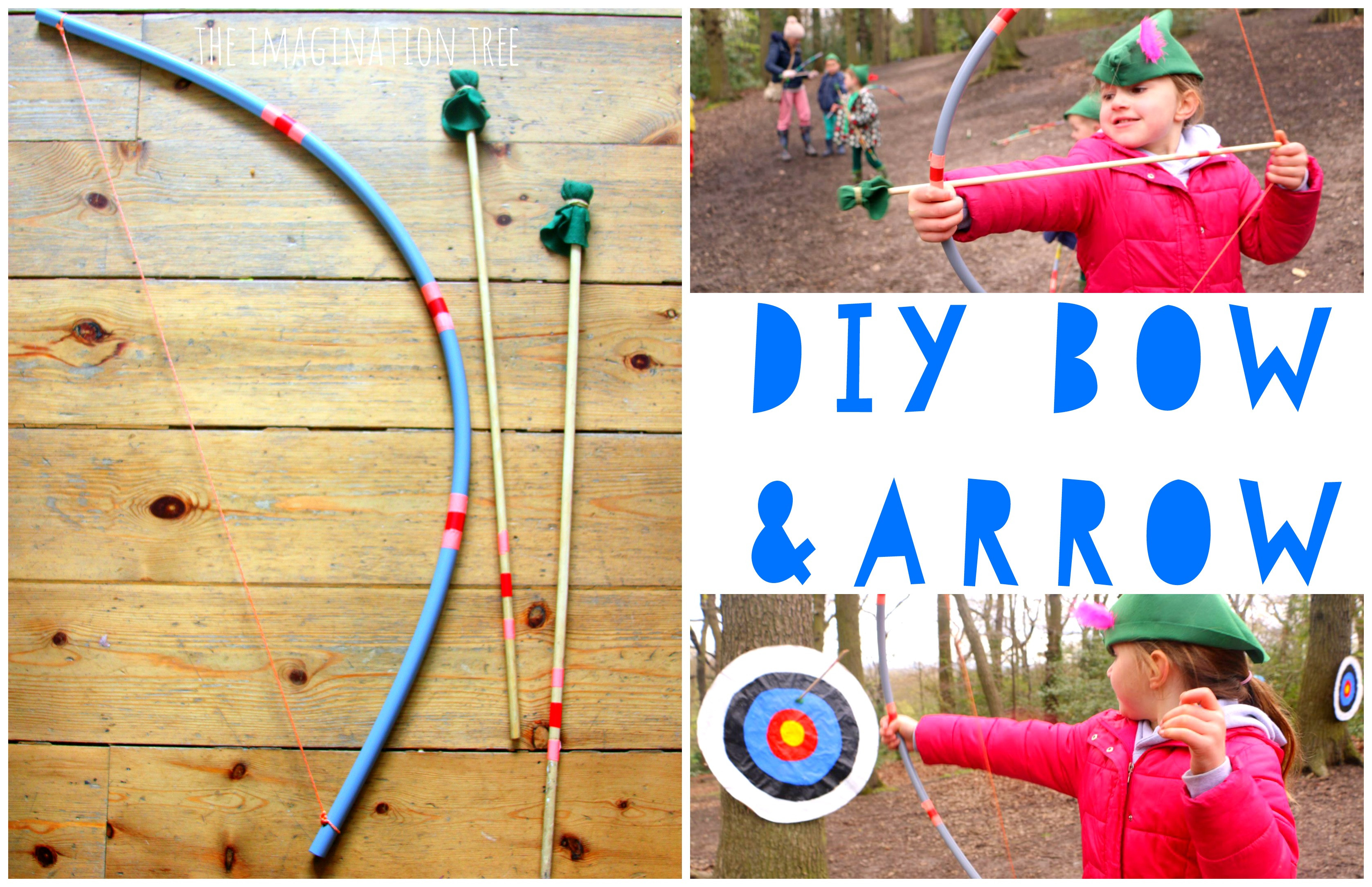 Best ideas about DIY Bow And Arrow . Save or Pin DIY Bow and Arrow for Kids The Imagination Tree Now.
