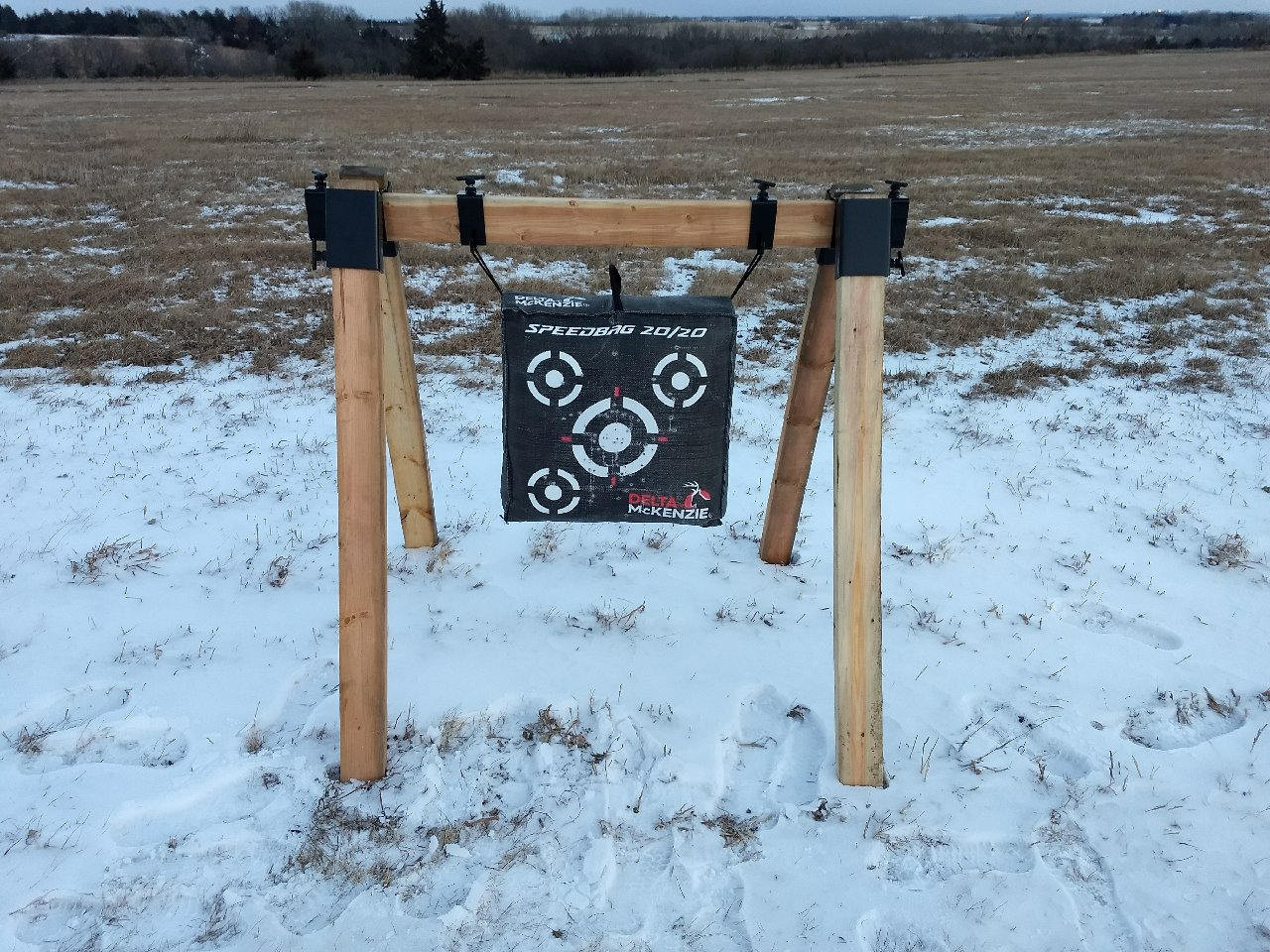 Best ideas about DIY Bow Stand . Save or Pin DIY Archery Tar Stand Bow Gun Shooting Brackets Hanger Now.