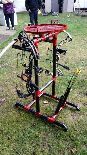 Best ideas about DIY Bow Stand . Save or Pin DIY PVC bow stand Cheap and easy to make BOW Now.