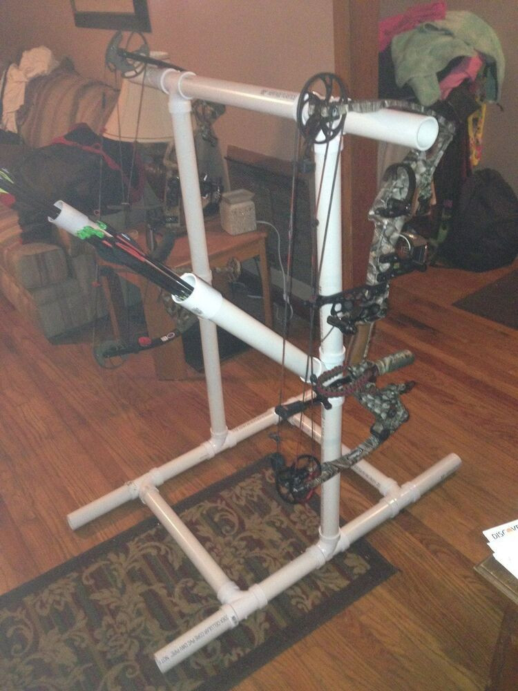 Best ideas about DIY Bow Stand . Save or Pin PVC tar bow stand w arrow holder archery rack DIY Now.