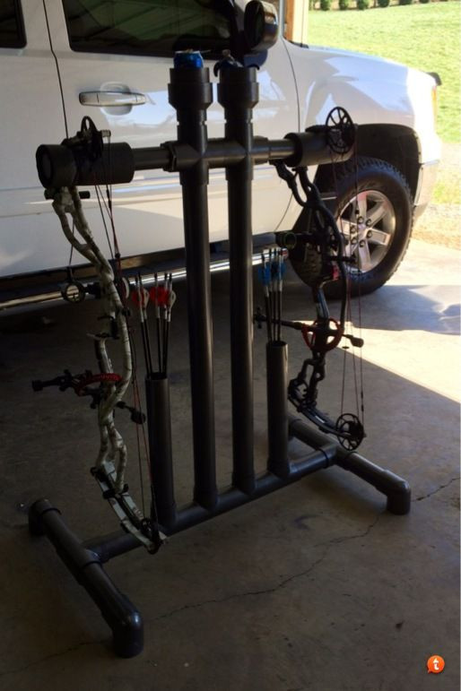 Best ideas about DIY Bow Stand . Save or Pin Archery Bow Holder WoodWorking Projects & Plans Now.