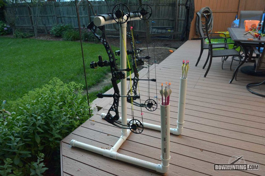 Best ideas about DIY Bow Stand . Save or Pin How To Build A PVC Bow & Arrow Stand Now.