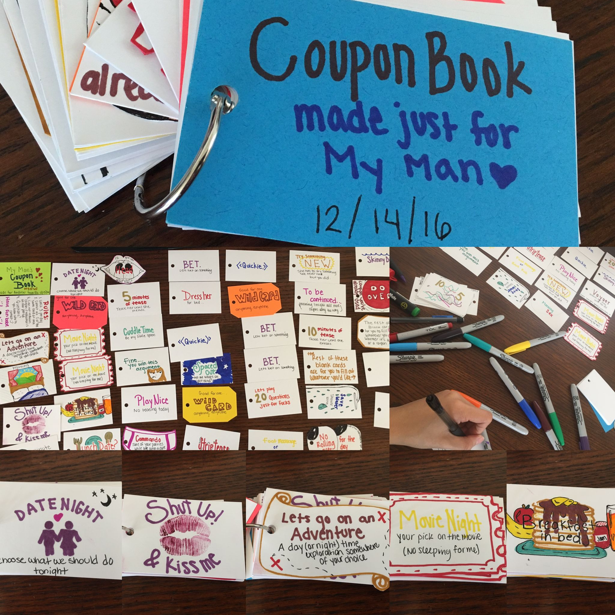 Best ideas about DIY Boyfriend Christmas Gifts . Save or Pin A coupon book made for my boyfriend as a Christmas t Now.