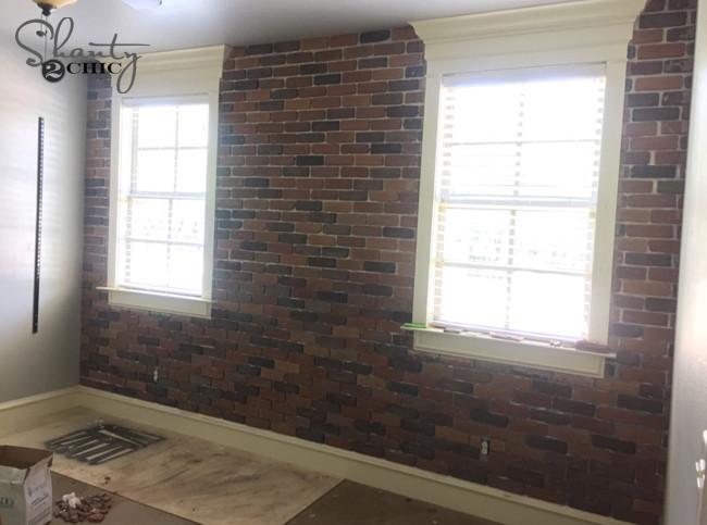Best ideas about DIY Brick Walls . Save or Pin DIY Thin Brick Wall Shanty 2 Chic Now.