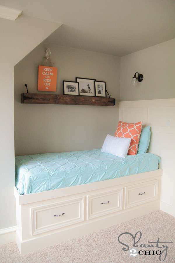 Best ideas about DIY Built In Bunk Beds . Save or Pin DIY Floating Rustic Shelf or Mantle Shanty 2 Chic Now.
