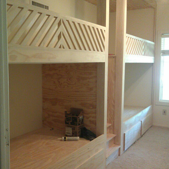 Best ideas about DIY Built In Bunk Beds . Save or Pin Built In Bunk Beds Plans Now.