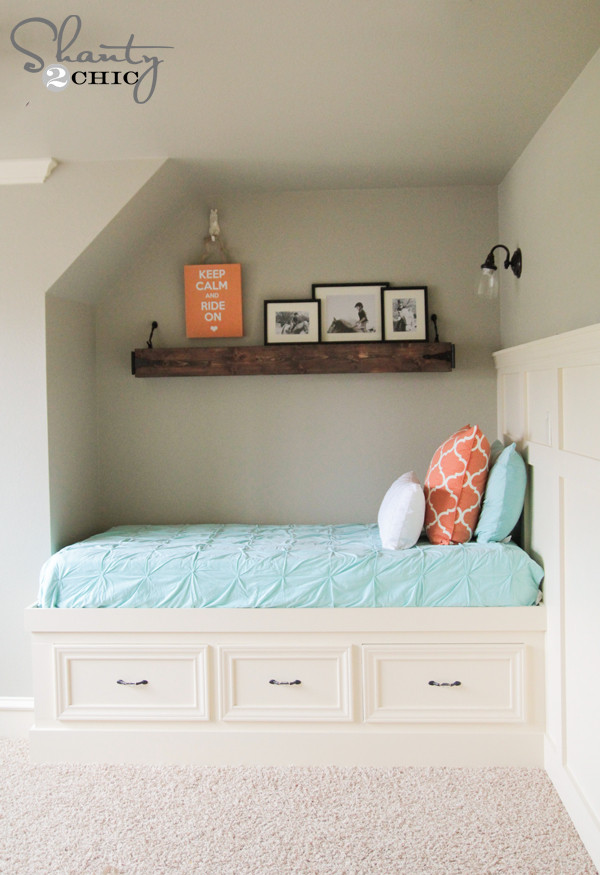 Best ideas about DIY Built In Bunk Beds . Save or Pin DIY Built In Storage Bed Shanty 2 Chic Now.