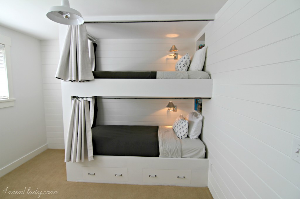 Best ideas about DIY Built In Bunk Beds . Save or Pin Bunk Beds and Bedroom Reveal Now.