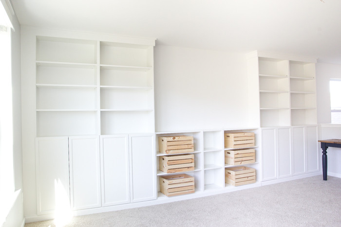Best ideas about DIY Built Ins . Save or Pin DIY Built Ins from IKEA Bookcases ORC Week 2 Bless er Now.