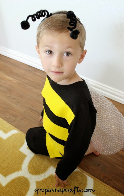 Best ideas about DIY Bumblebee Costume . Save or Pin Ginger Snap Crafts No Sew Bee Costume tutorial Now.