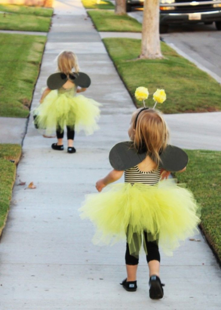Best ideas about DIY Bumblebee Costume . Save or Pin two little frills bumble bee DIY halloween costume Now.
