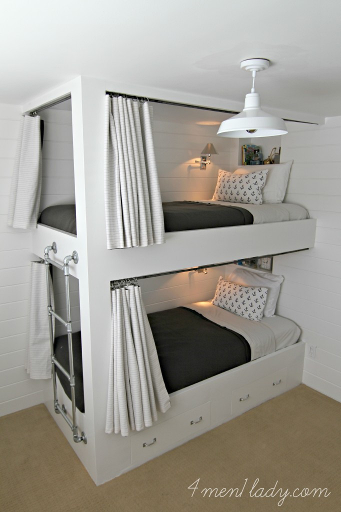 Best ideas about DIY Bunk Bed Ladder . Save or Pin Bunk Beds and Bedroom Reveal Now.