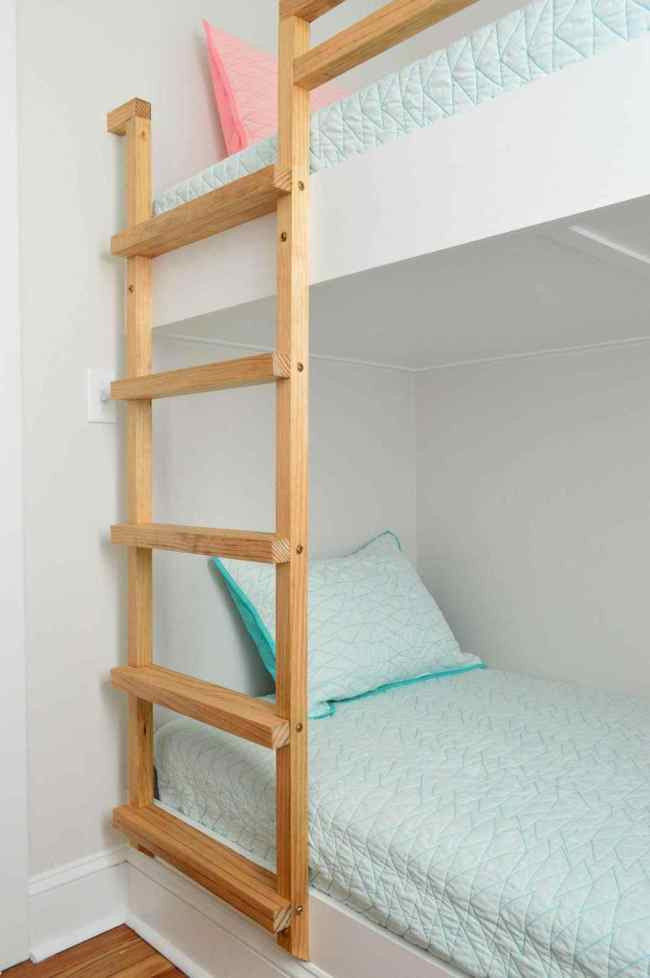 Best ideas about DIY Bunk Bed Ladder . Save or Pin How To Make DIY Built In Bunk Beds Now.