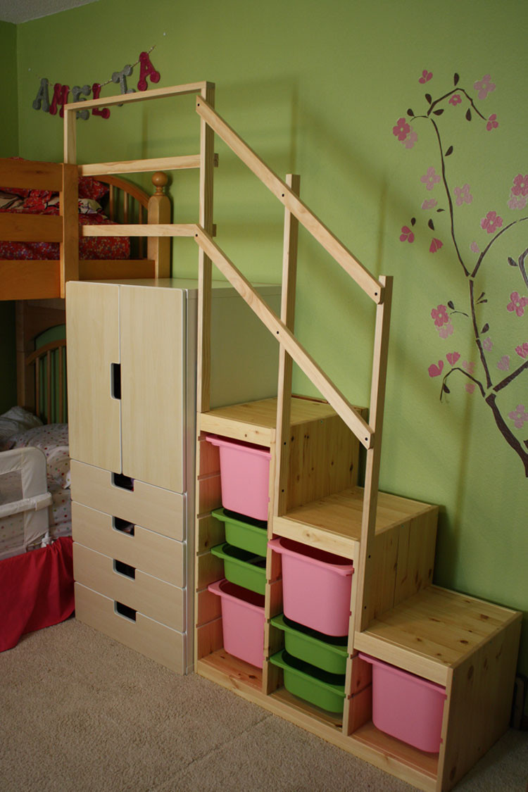 Best ideas about DIY Bunk Beds With Stairs . Save or Pin Easy Full Height Bunk Bed Stairs IKEA Hackers Now.