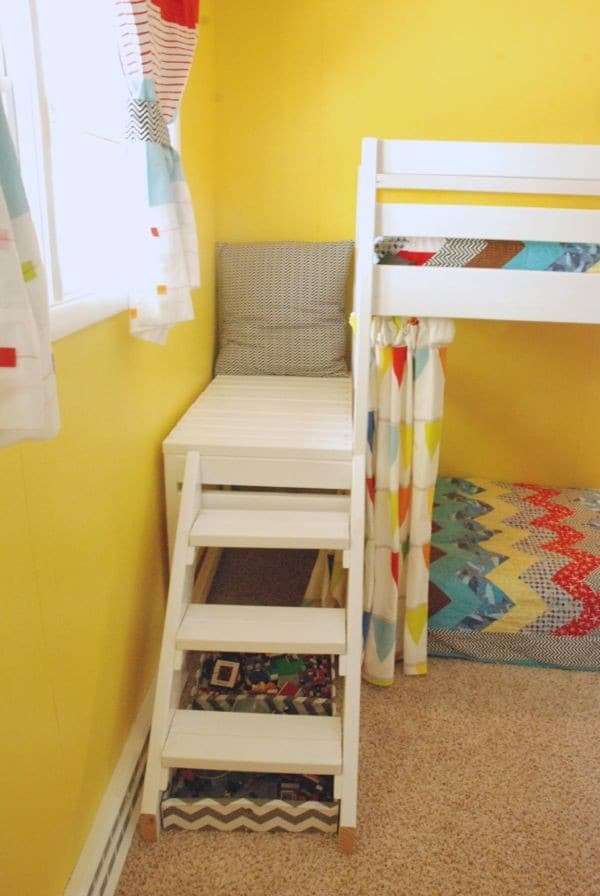 Best ideas about DIY Bunk Beds With Stairs . Save or Pin DIY Kids Loft Bunk Bed with Stairs Now.