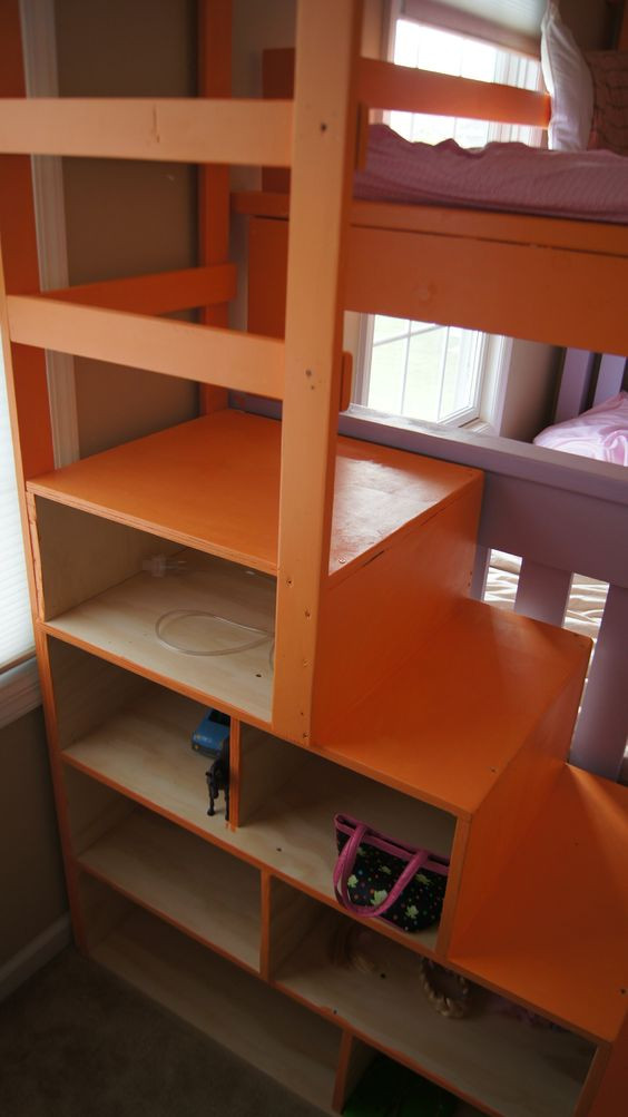 Best ideas about DIY Bunk Beds With Stairs . Save or Pin Bunk bed Triple bunk beds and Stairs on Pinterest Now.