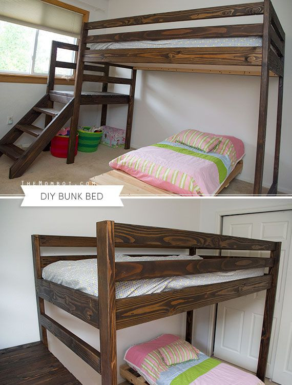 Best ideas about DIY Bunk Beds With Stairs . Save or Pin DIY bunk bed with stairs built with free plans from Ana Now.